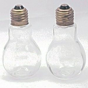 2 Empty Glass Screwtop Bottles Shakers, Cruets